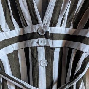 Forever 21 Dresses - Forever 21 // plunging striped midi dress NWT